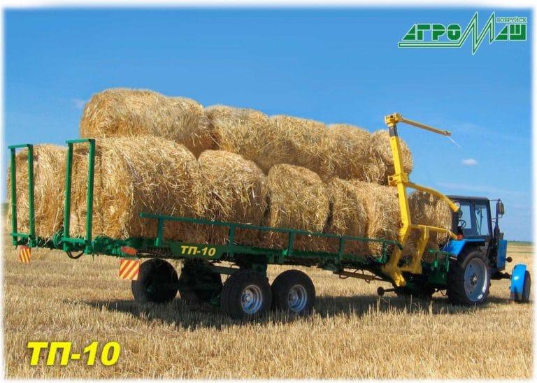 """Loader-transporter of rolls of hay """"TP-10"""""""