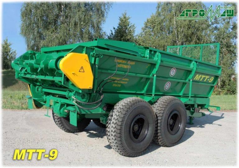 "Machine for applying solid organic fertilizers ""MTT-9"""