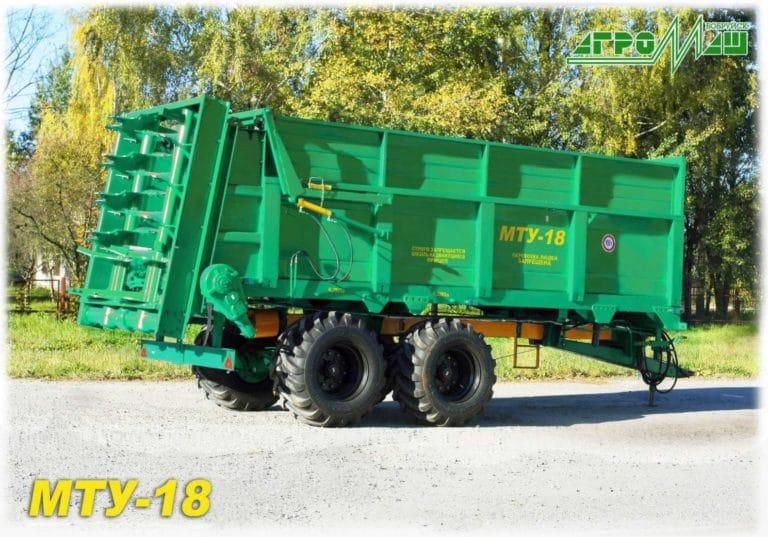 "Machine for applying solid organic fertilizers ""MTU-18"""