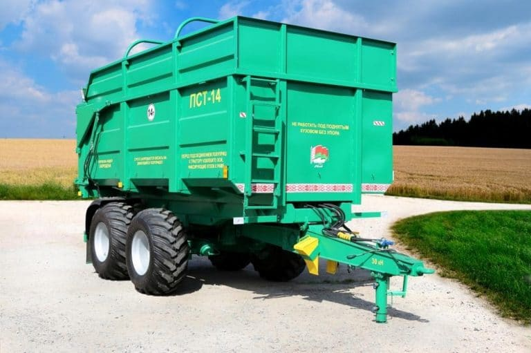 Tractor semi-trailer PST-14 with all-metal sides 560 mm
