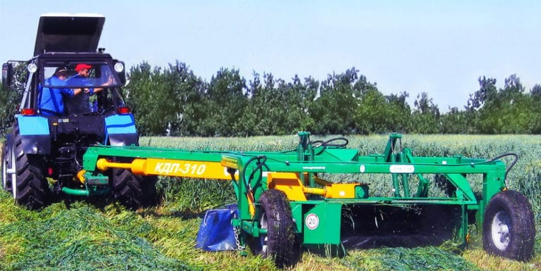 Semi-trailed disc mower (with flaking rollers) KDP-310